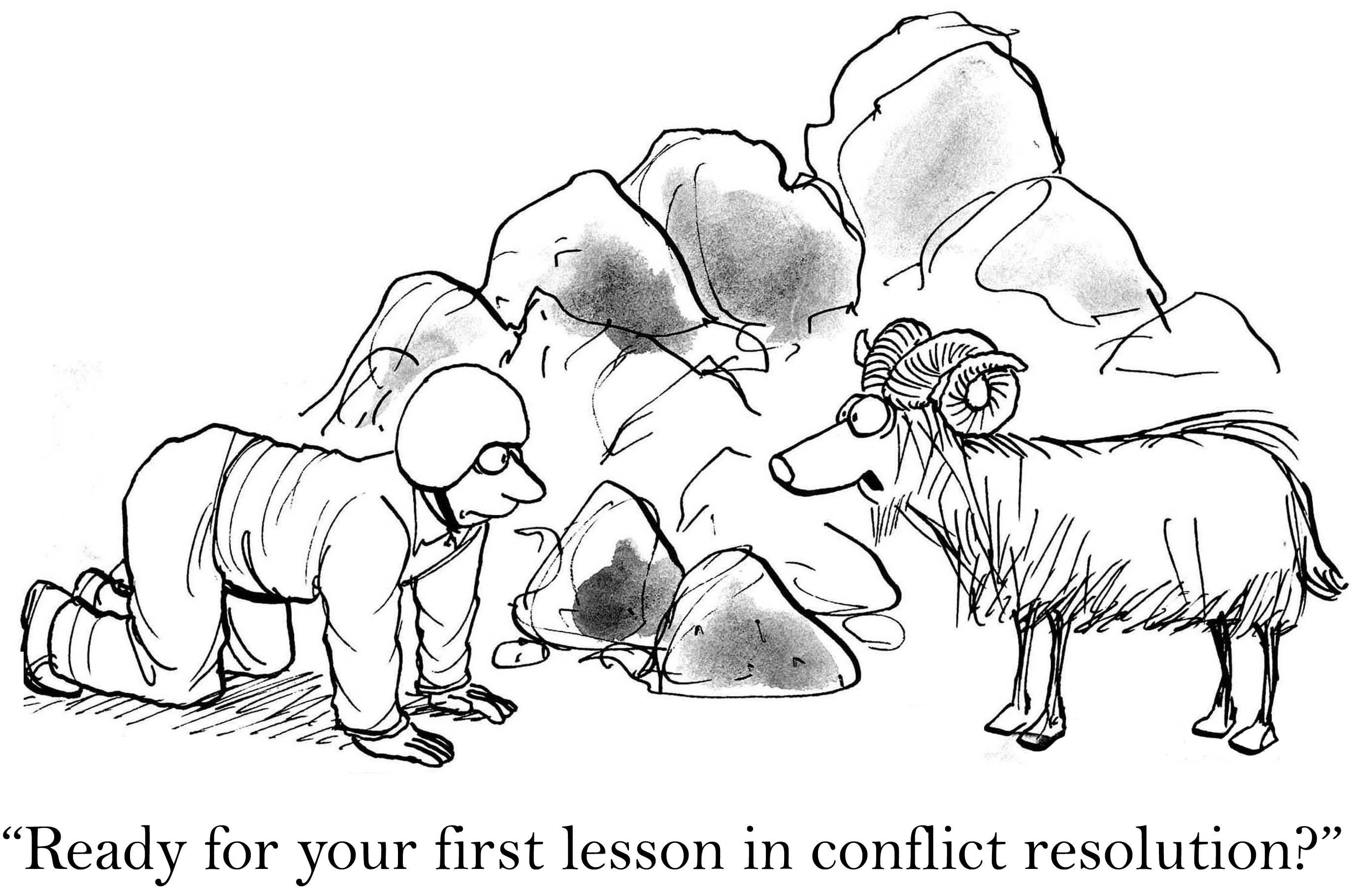 Eerste les in conflict